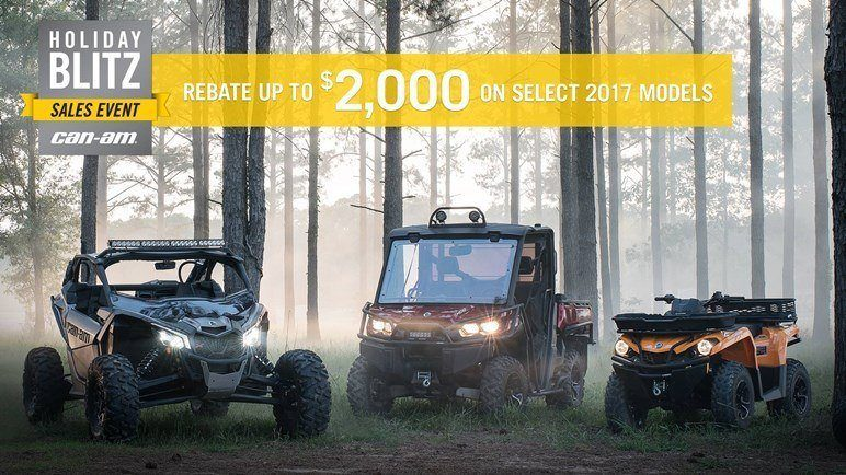 CAN-AM HOLIDAY BLITZ SALES EVENT- Outlander Rebates